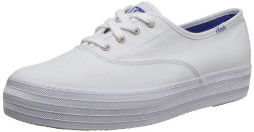 Keds Triple, Chaussures de Running Femme Blanc (White)