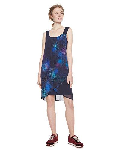 Desigual Damen Kleid Vest_Agnes, Blau (Navy 5000), 44