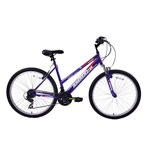 "41%2BfIAzDPJL. SS500  - Ammaco ASPEN WOMENS 20"" FRAME 21 SPEED FRONT SUSPENSION 26"" WHEEL MOUNTAIN BIKE PURPLE"