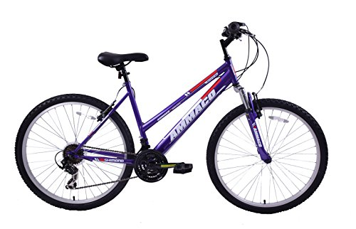 "41%2BfIAzDPJL - Ammaco ASPEN WOMENS 20"" FRAME 21 SPEED FRONT SUSPENSION 26"" WHEEL MOUNTAIN BIKE PURPLE"