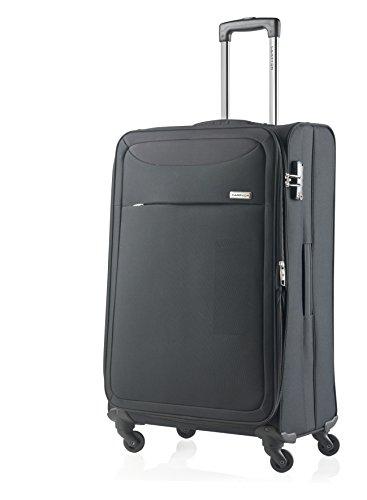 Carry On Reisekoffer (CarryOn Air Weicher Reisekoffer Polyester TSA Reisetrolley 77cm schwarz)