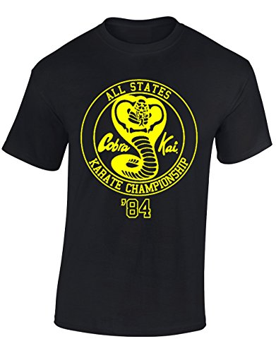 Designs by The Crown Cobra Kai Emblem Karate Kid Inspired Gift for Men & Teenagers T-Shirts Tops