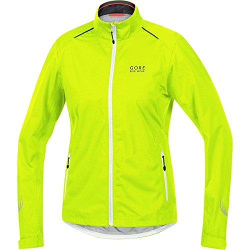 GORE BIKE WEAR Damen Regen-Fahrradjacke, Leicht, GORE-TEX Active, ELEMENT LADY GT AS Jacket, Größe: 36, Neon Gelb/Weiß/Schwarz, JGLELE (Womens Cycle Jacken)