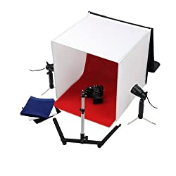 50 cm Light Tent Shooting Kit Photo Studio for product photography with Lights and backgrounds