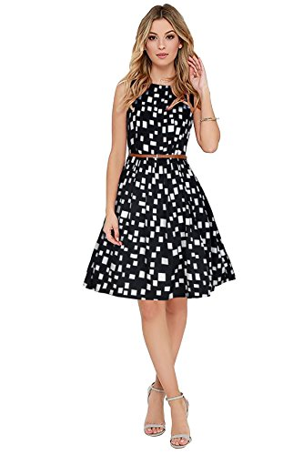 SJ Trendz Western Dress by Western Wear Skater Dress |Fit and Flare|One Piece Dress for Women Stylish |Western Dresses for Womens Party wear | (Size:- L)