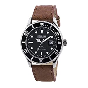 Kahuna KUS-0105G – Reloj de Cuarzo, Correa de Cuero