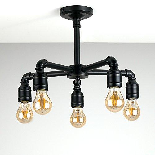 steampunk lighting. fine lighting beautiful industrial steampunk style matt black cartwheel 5 way over table  ceiling light for lighting