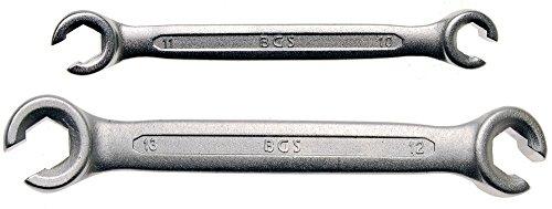 BGS 1755 Offener Ringschlüssel, 2 tlg., 10 x 11 + 12 x 13 mm