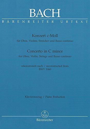 Konzert C-Moll Nach Bwv 1060 - Ob Vl Str. Oboe, Violine, Klavier