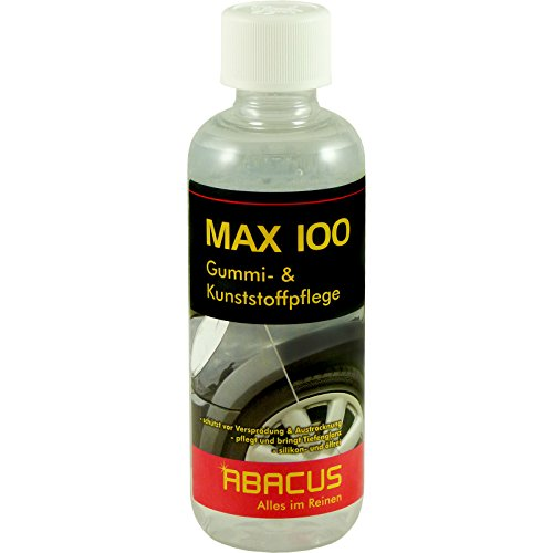 ABACUS MAX 100 300 ml (4086) - Gummipflege Kunststoffpflege Reifenglanz Reifenpflege Spoiler Zierblenden Farbauffrischer