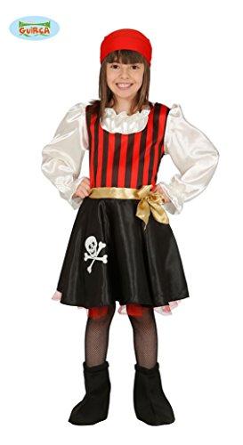 Piraten Kostüm Kinder 3-4 Jahre Piratenmädchen Seeräuberin Fasching -