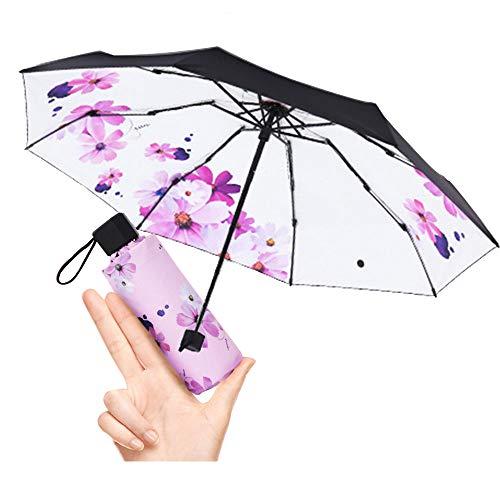 Mini Travel Sonne & Regen Regenschirm - Light Compact mit 95{59904af19d6041e172e61e1f7b6b6a7255678aa45bf19b85d3dc6a833e6dd286} UV-Schutz Hochzeit Outdoor - Schirm
