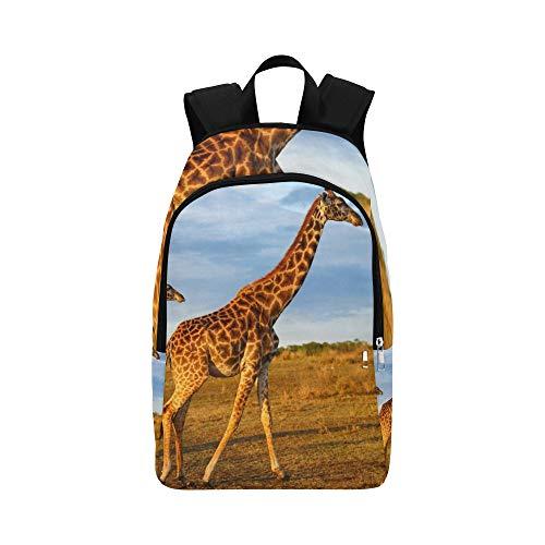 Masai Giraffe Kalb Masai Mara Kenia Casual Daypack Reisetasche College School Rucksack für Männer und Frauen - Masai Giraffe