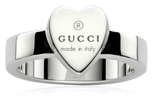 Gucci Damen-Ring mit graviertem Herz Sterlingsilber Gr.51 YBC22386700151