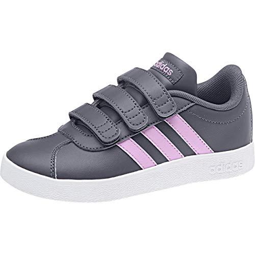 adidas VL Court 2.0 Cmf, Scarpe da Tennis Unisex-Bambini, Blu Mysblu/Clelil/Ftwwht, 35 EU