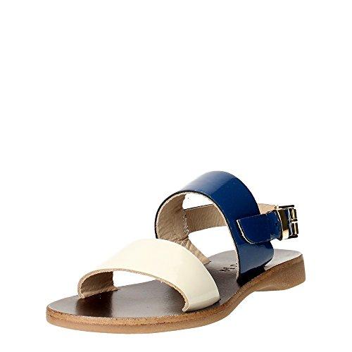 Florens F7633 Sandale Fille Beige/Bleu