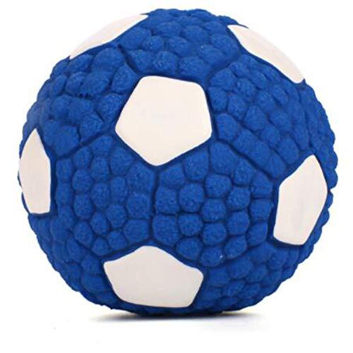 CLLX Haustier-Hundespielzeug, Bissfester Interaktiver Backenzahn-Trainingsball, Integrierte BB-Pfeife,Football