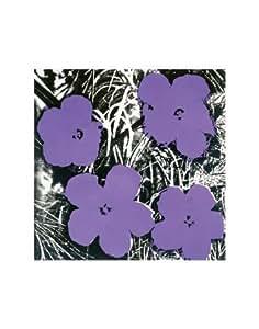 Reproduction d'art 'Flowers, c.1965 (Purple)', de Andy Warhol, Taille: 28 x 36 cm