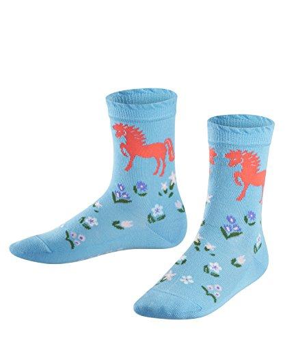 FALKE Mädchen Socken Horse, Mehrfarbig (SkyBlue 6033), 27-30