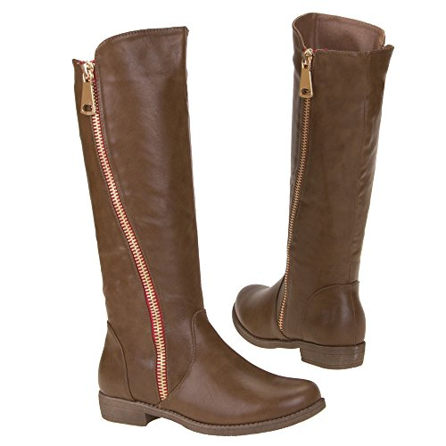 Damen Schuhe, ZH38, STIEFEL Braun
