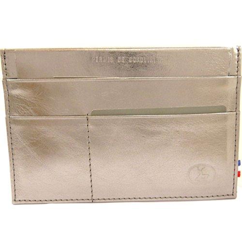 Frandi [L4134] - Porte Papiers de voiture Cuir 'Frandi' gris acier (ultra plat)