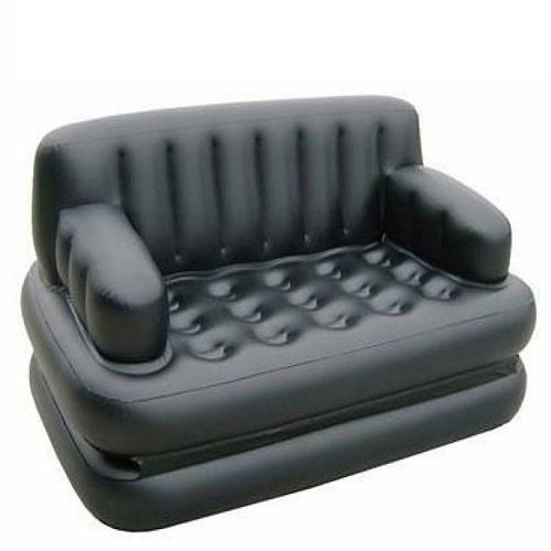 Unique Gadget Bestway 5 in 1 Inflatable Sofa Air Bed Couch with Free Electric Pump (Black)