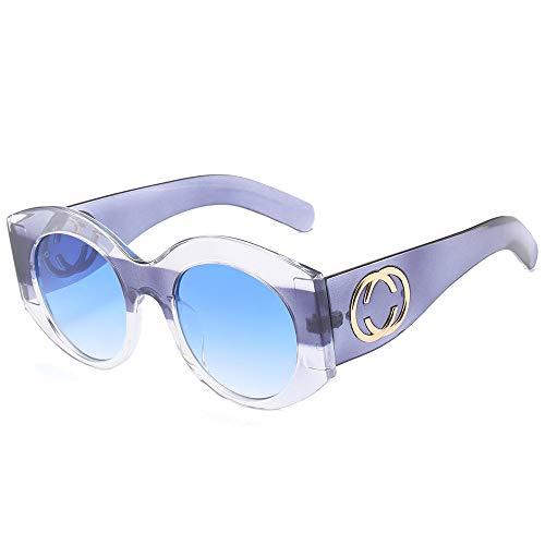 QIANYACBA Sonnenbrille europäische und amerikanische Trends, schlägt Sonnenbrille Street Paare tragen Brille Brandy Box Gradient Orchidee c7