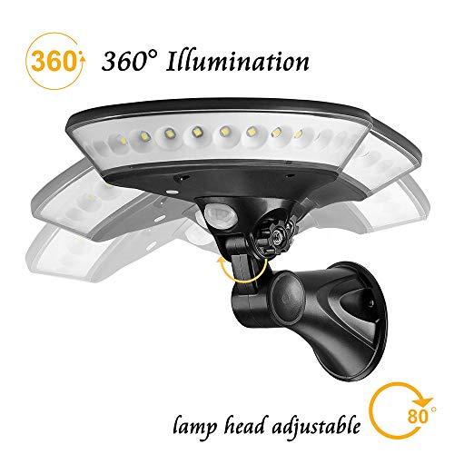 UFO Solarleuchte Solar Wandleuchte Induktionsleuchte Gartenleuchte LED-Sichtleuchte, Dekoratives Licht, Automatikschalter 360 Grad Beleuchtung