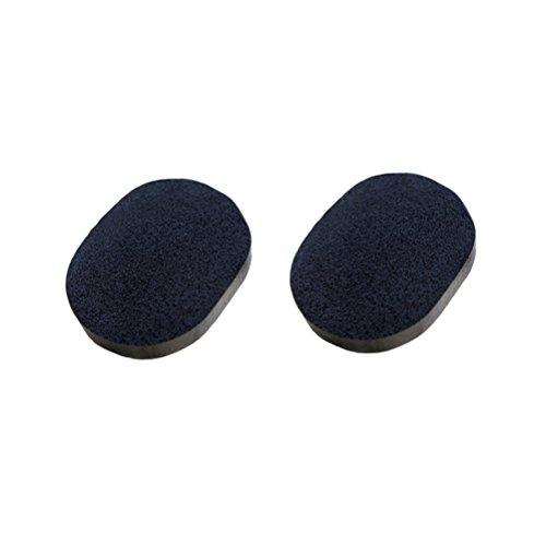 Frcolor Esponja limpiadora facial negra 2pcs con el carbón de leña actuado para la piel que limpia el exfoliante