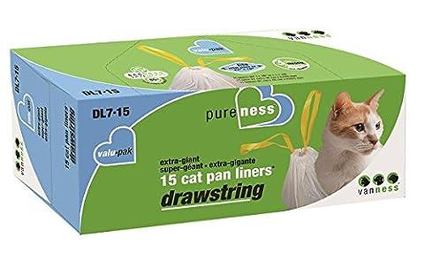 Van Ness Plastic Molding Drwstrng Xgiant Cat Pan Liners -