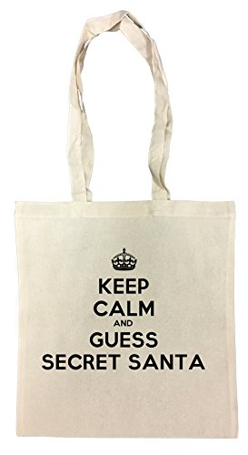 keep-calm-and-guess-secret-santa-bolsa-de-compras-de-algodn-reutilizable-cotton-shopping-bag-reusabl