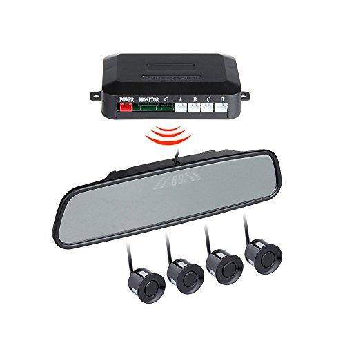 BINODA Auto Parksensoren mit 4 Sensor Auto Backup Reverse Radar Rearview Monitor Sound Alarm Set Sensor (Color : Black) (Reverse-led-sensor Grau)