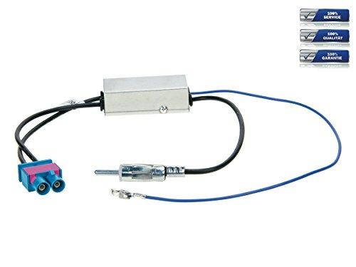 Antennenadapter mit Phantomeinspeisung Doppel Fakra Audi / VW/ Seat / Skoda auf DIN *Diversity* - Doppel-antennen-adapter