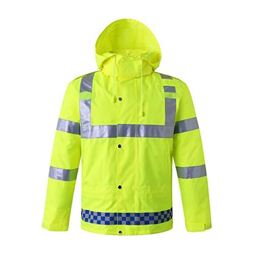 Veste moto haute visibilité sécurité réfléchissante vêtements de sécurité avertissement gilet réfléchissant veste à rayures extérieur (Color : A, Taille : XL)