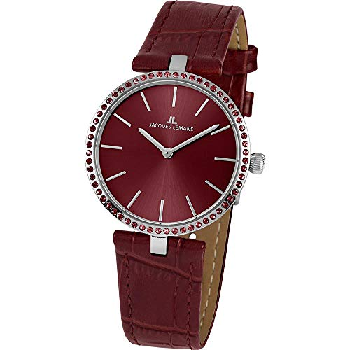 Jacques Lemans Women's Milano 34mm Brown Leather Band Quartz Watch 1-2024J