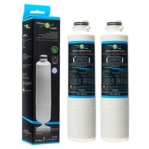 FilterLogic FFL-181S2 2 Filtros de agua para frigorífico compatible Samsung DA29-00020B, HAF-CIN/EXP,...
