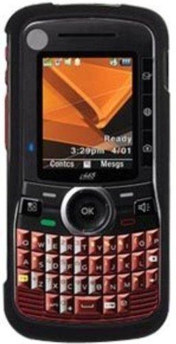 Amzer Schutzschale für Nextel Motorola Clutch i465, gummiert, zum Aufstecken, Schwarz Nextel Motorola Clutch