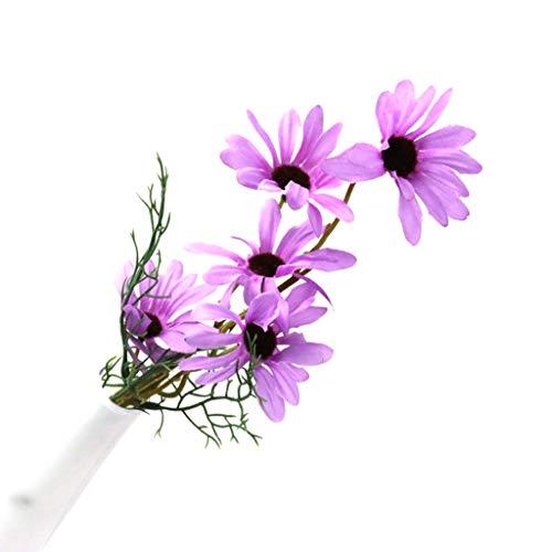 änseblümchen, 5 Stück, Blumen, DIY Blumenstrauß für Hochzeit, Weihnachten, Party, Zuhause, Garten, Hof, Dekoration von Meipai violett ()