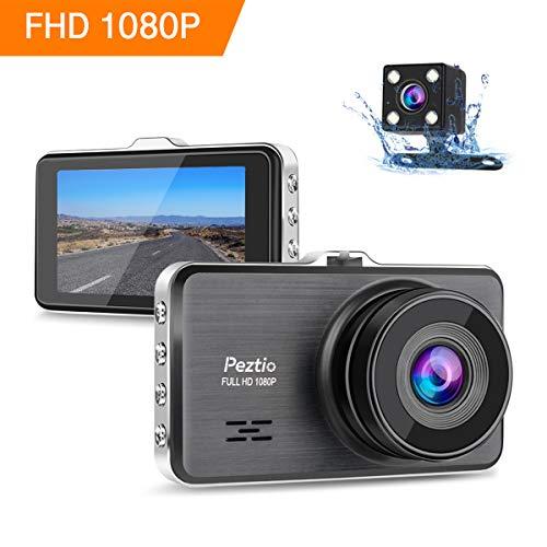 P Autokamera 3 Zoll IPS Dashcam Auto Vorne Hinten with Nachtsicht, 170° Weitwinkelobjektiv, G-Sensor, Loop-Aufnahme, Bewegungserkennung, Parkmonitor, WDR ()
