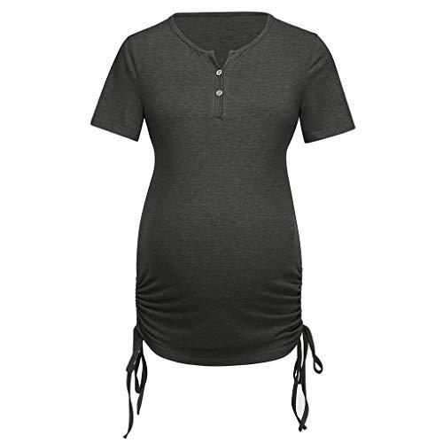 Damen Frauen Unterwäsche Umstandstop Umstandsmode Pflege Stillshirt Kurzarm Zum Stillen T-Shirt