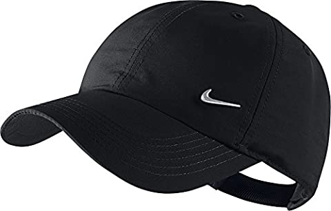 Nike Heritage 86 Metal Swoosh Casquette réglable Enfant Black/Metallic Silver FR: M (Taille Fabricant: One Size)