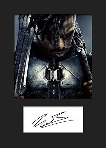 Michael B Jordan 1 | Signierter Fotodruck | A5 Größe passend für 6x8 Zoll Rahmen | Maschinenschnitt | Fotoanzeige | Geschenk Sammlerstück