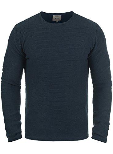 Redefined Rebel Mace Herren Strickpullover Feinstrick Pullover Mit Rundhals Aus 100{31cfd6b5046bc3d508bf865a4978081ac2c591075100bfb2db521ce8ed01d968} Baumwolle, Größe:L, Farbe:Navy