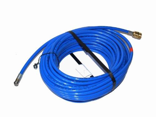 Rohrreinigungsschlauch für Kränzle Hochdruckreiniger 20m M22x1,5 AG blau 3 Strahl hinten 1 Strahl vor