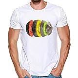 Manga Corta de Hombre,Camisa Fiesta de Hombres Camisetas Deportivas y de Ocio Tops Estampado Hombre Manga Corta para Hombre Chaleco de Hombres t-Shirt para Hombre