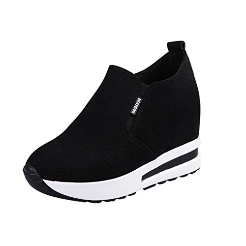 beautyjourney Scarpe sneakers estive eleganti donna scarpe da ginnastica donna scarpe da corsa donna Sportive Scarpe Da Lavoro donna scarpe donna stringate - Scarpe tacco donna (35, Nero)