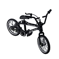 73JohnPol Mini-finger-bmx Set Bike Fans Toy Alloy Finger BMX Functional Kids Bicycle modle Finger Bike Excellent Quality Bmx Toys Gift&(color:black)