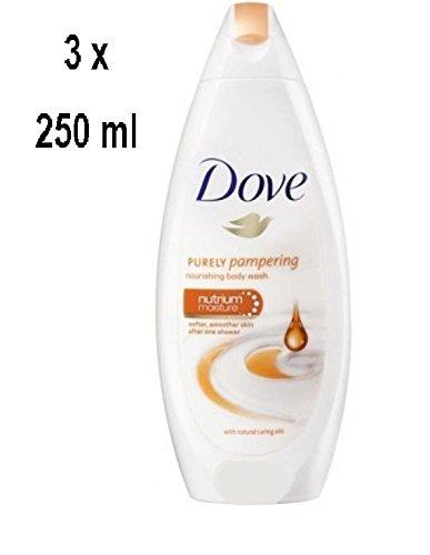 DOVE Women Duschgel Natürliche 'Caring Oils' - 3er - Pack (3 x 250 ml)