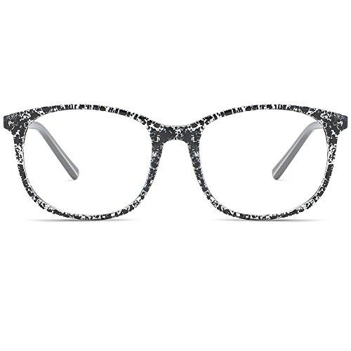 VEVISTARS Klassische Retro Brillengestelle Nerdbrille Herren Damen Federscharniere Brille Ohne...