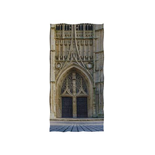 Romance gothique architecture église soft spa plage serviette bain doigt serviette serviette gant toilette bébé adulte salle bains douche sur la plage enveloppement hôtel gymnase sport 30x15 pouces